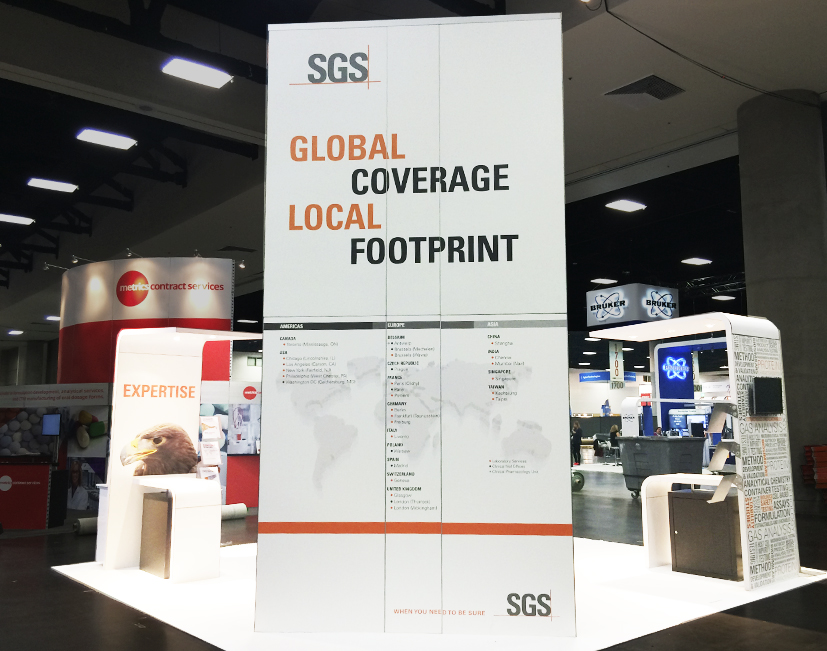 Trade Show Booth Displays for SGS