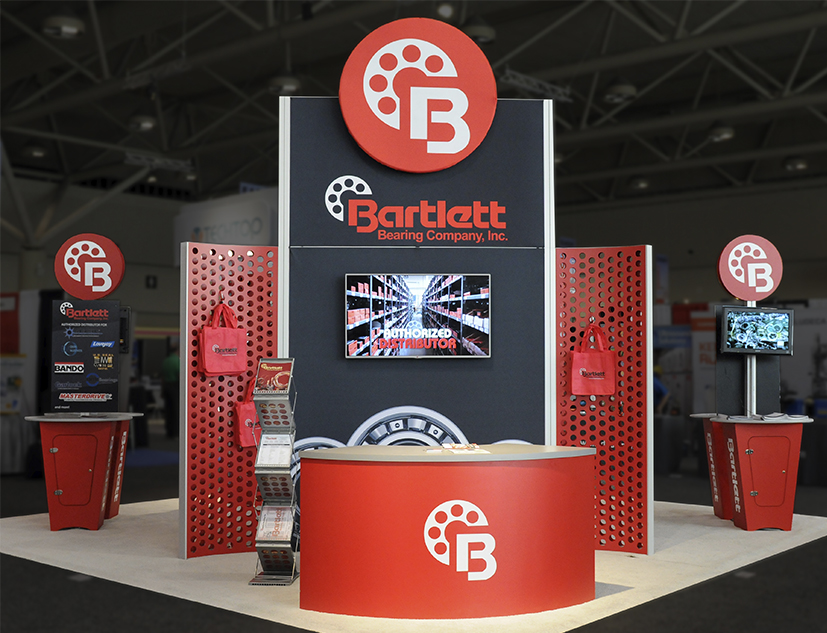 Custom Trade Show Displays for Bartlett Bearing Company