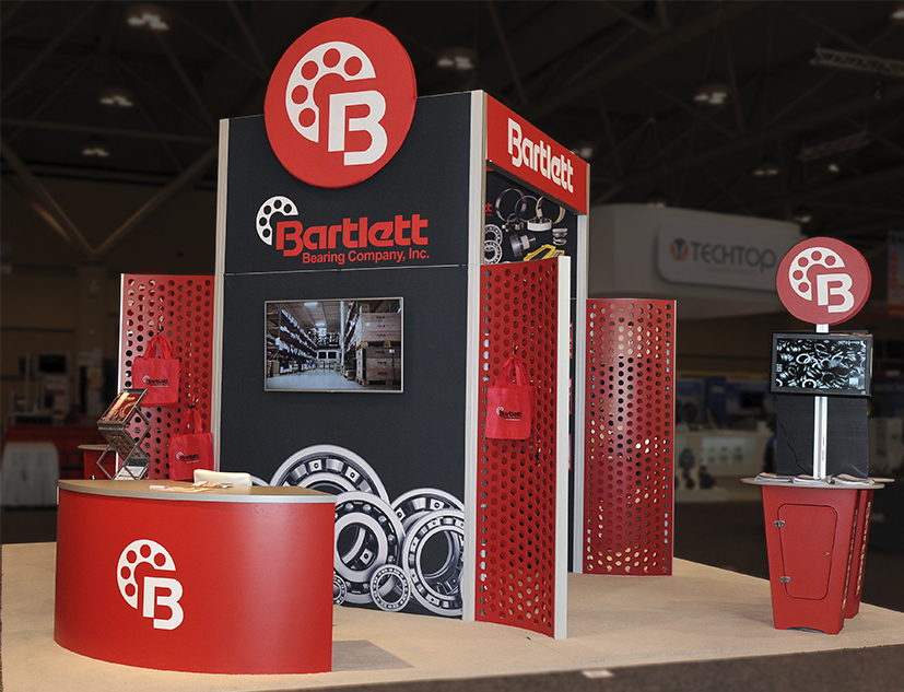 Trade Show Exhibit Design for Bartlett Bearing Company