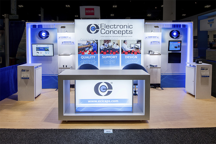 Custom Exhibit Displays for Electronic Concepts Inc